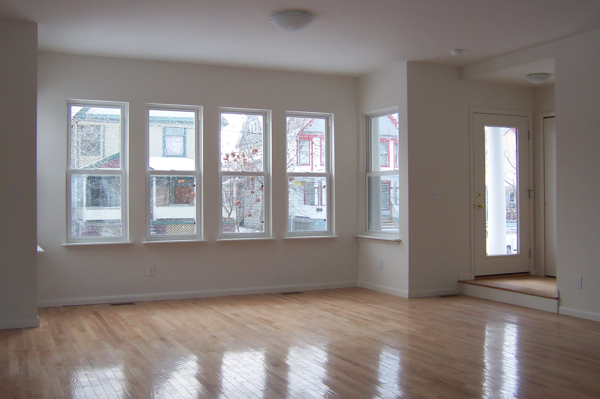 West 45th street ohio city single family homes photos - Living room with bay window ...